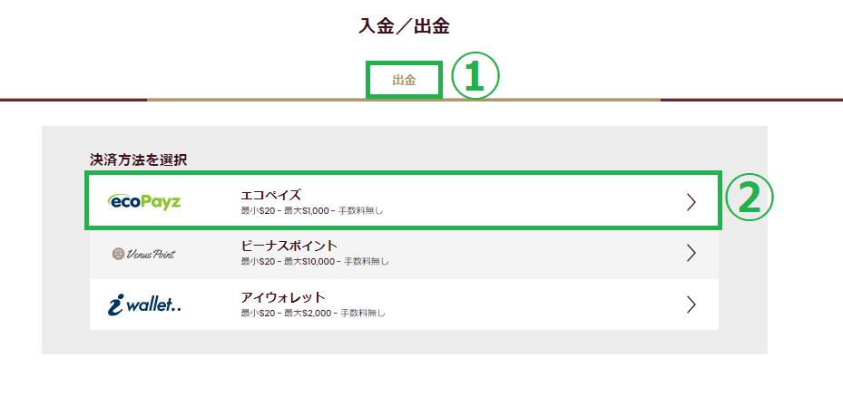 【図解】チェリーカジノのエコペイズ入金出金マニュアル!限度額や手数料も