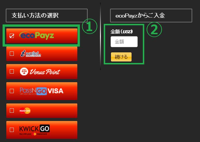 【図解】エンパイアカジノのエコペイズ入金出金マニュアル!限度額や手数料も