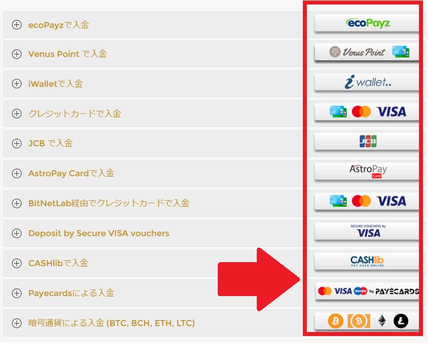 ユニークカジノの入金方法一覧!最低金額~限度額・手数料・反映時間も見てみよう!